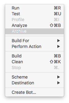Archive your Project